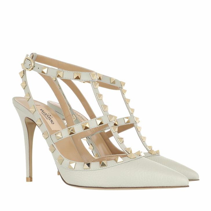 shoes, Valentino Garavani, Rockstud Ankle Strap Pump Opal Grey