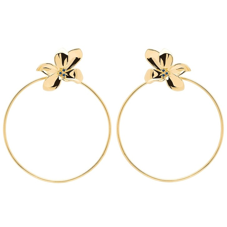 Ohrring, PDPAOLA, Earrings BLOSSOM Yellow Gold