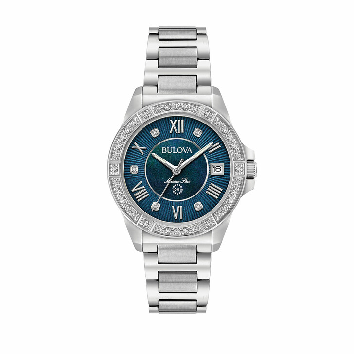 Uhr, Bulova, Marine Star Silver