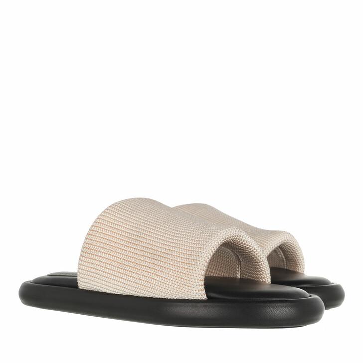 Schuh, Proenza Schouler, Pipe Knit Slide Ecru
