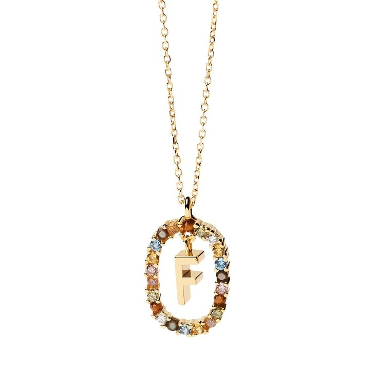 Kette, PDPAOLA, Necklace Letter F Yellow Gold