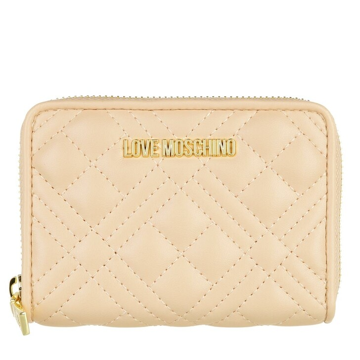 wallets, Love Moschino, Portafogli Quilted Pu  Naturale