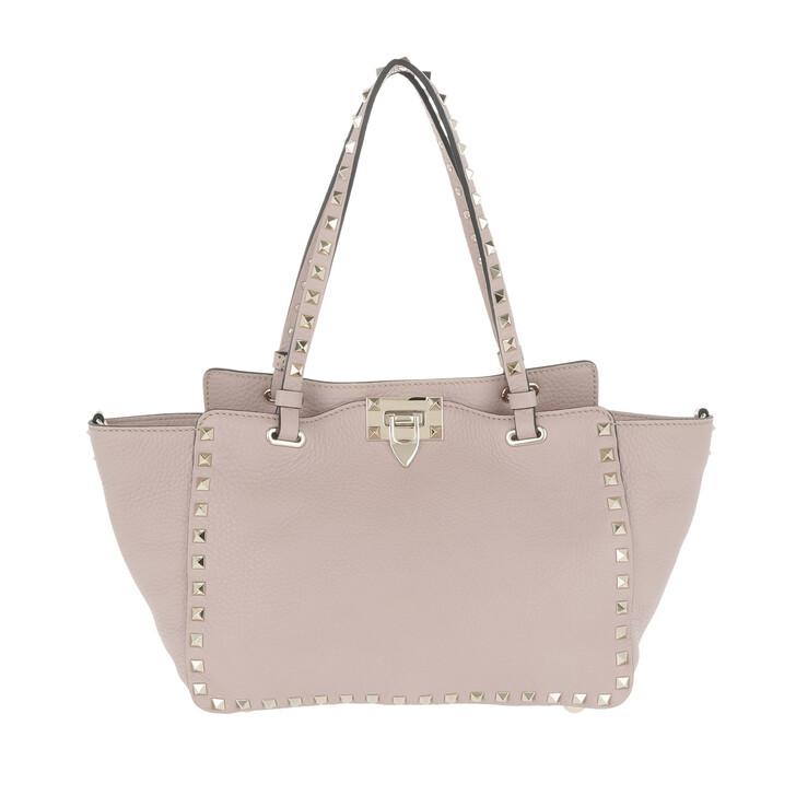 Handtasche, Valentino, Rockstud Small Tote Leather Poudre