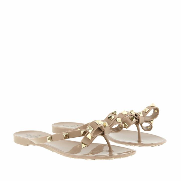 Schuh, Valentino Garavani, Rockstud Flip Flops Poudre