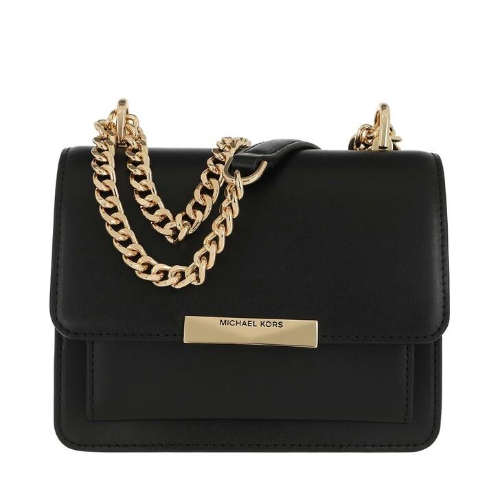 bags, MICHAEL Michael Kors, Xs Gusset  Handbag  Leather Black