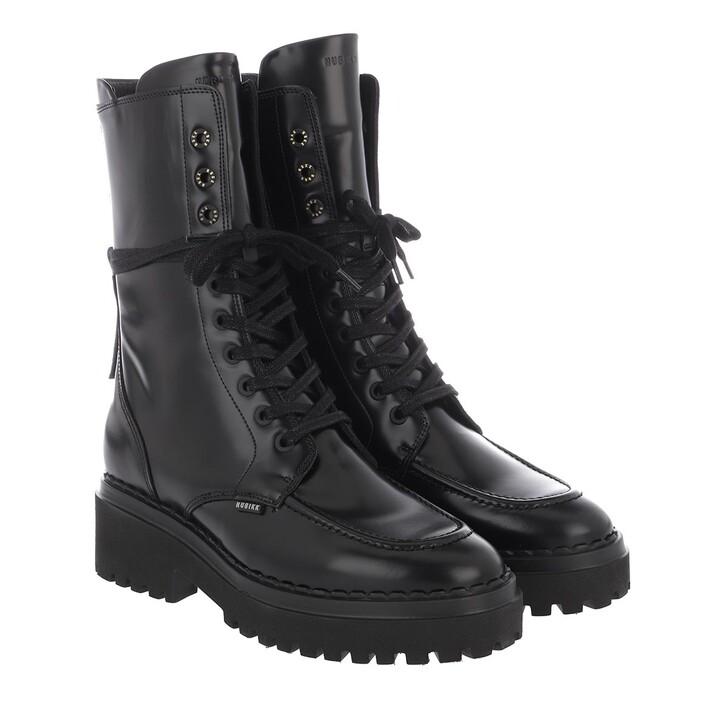 Schuh, Nubikk, Fae Aubine Ladies Ankle Boot Black Mirror Leather