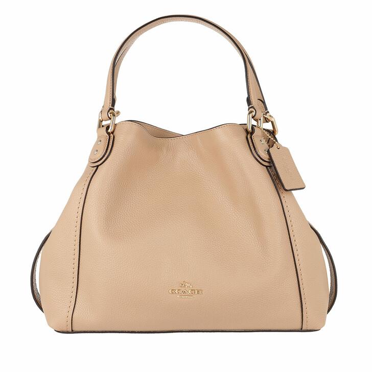 Handtasche, Coach, Polished Leather Edie 28 Shoulder Bag Beechwood