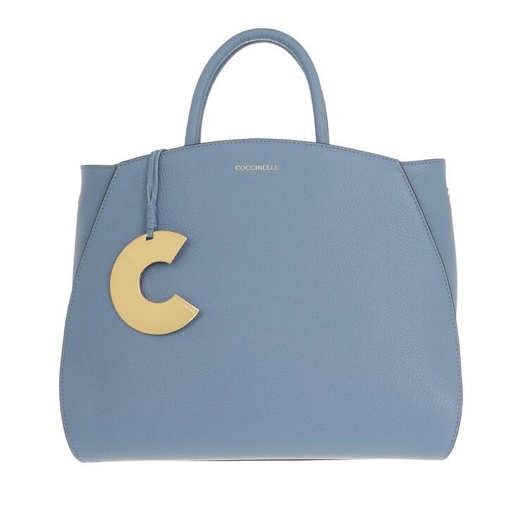 Handtasche, Coccinelle, Concrete Handle Tote Bag Pacific Blue