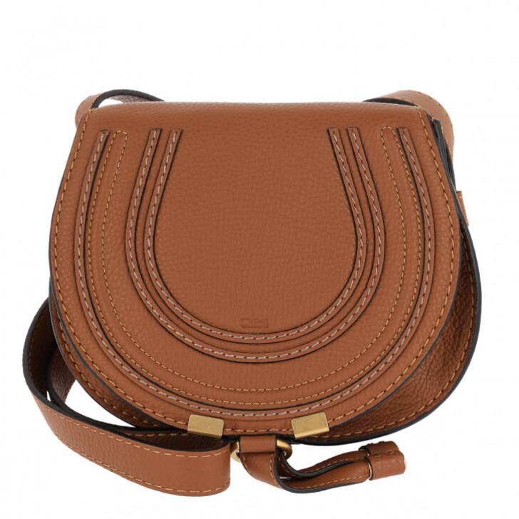 Handtasche, Chloé, Marcie Round Small Bag Tan
