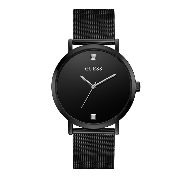 Uhr, Guess, Mens Dress Stainless Steel Watch Black