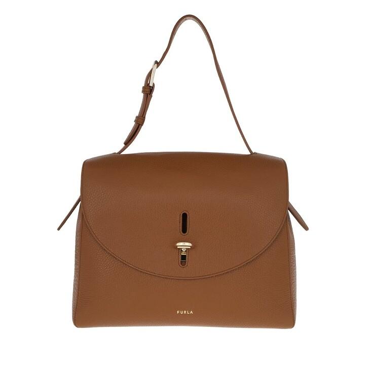 bags, Furla, Net Medium Top Handle Cognac