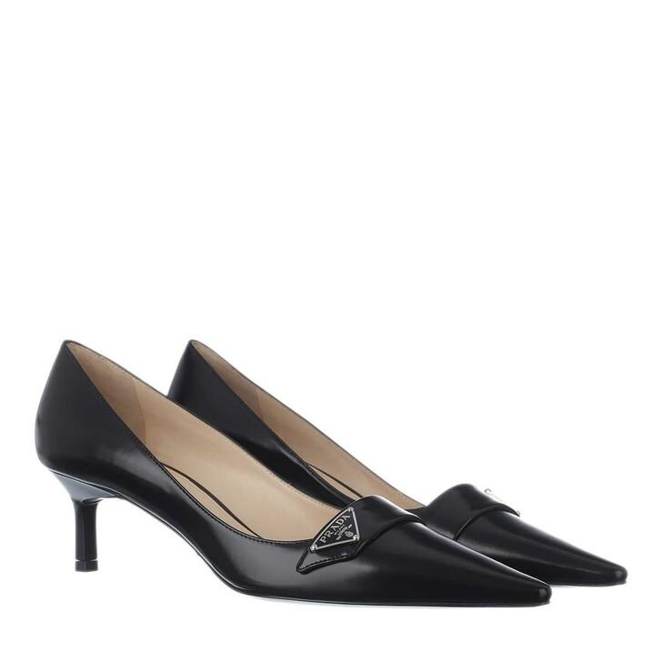 Schuh, Prada, Sling Pumps Leather Black