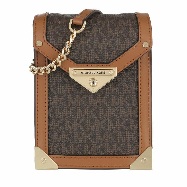 bags, MICHAEL Michael Kors, Grace Sm Ns Xbody Brown/Acorn