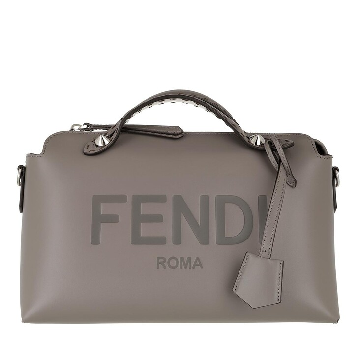 Handtasche, Fendi, By The Way Bowling Bag Leather Grey
