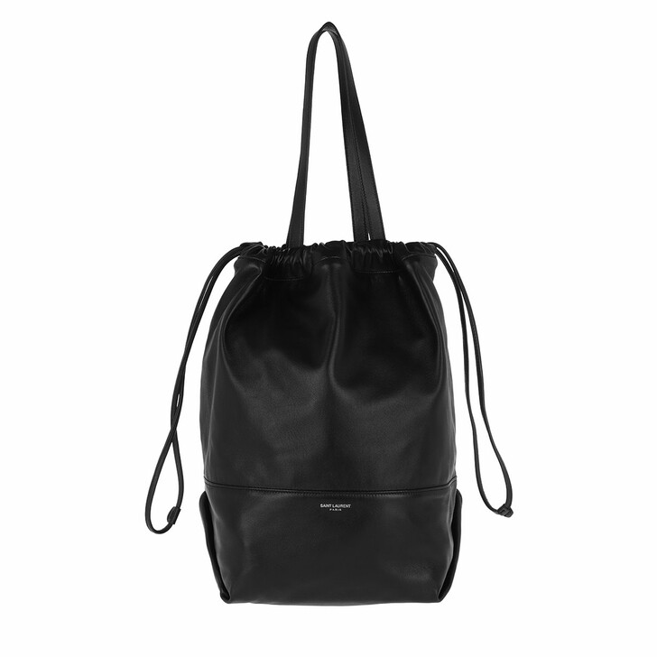 Handtasche, Saint Laurent, Harlem Shopping Bag Lambskin Black