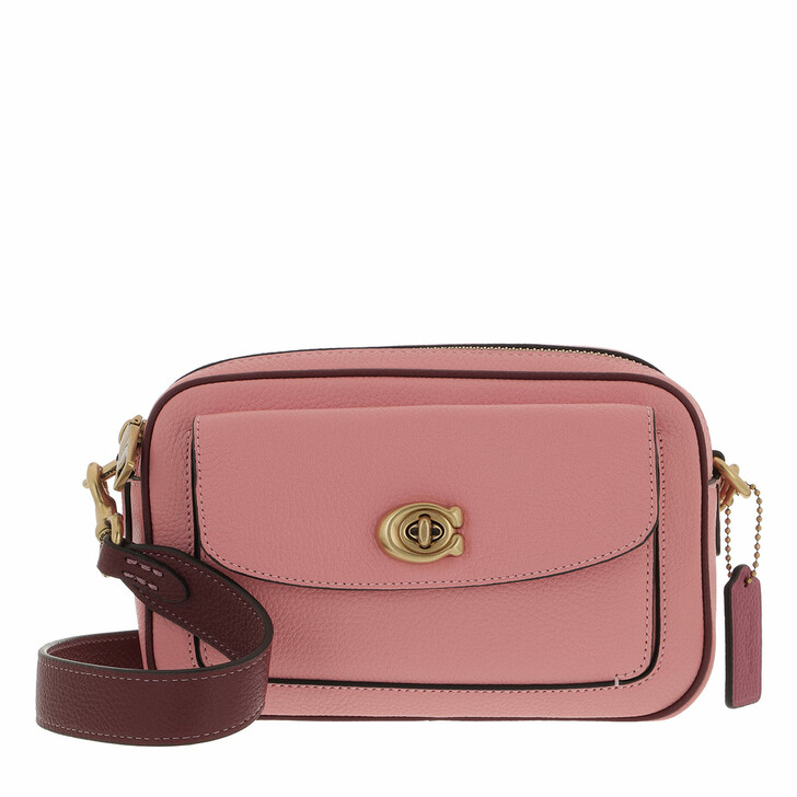 bags, Coach, Colorblock Leather Willow Camera Bag Candy Pink