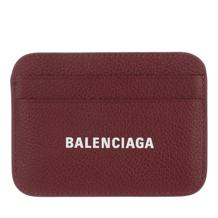 Geldbörse, Balenciaga, Cash Card Holder Dark Red/White