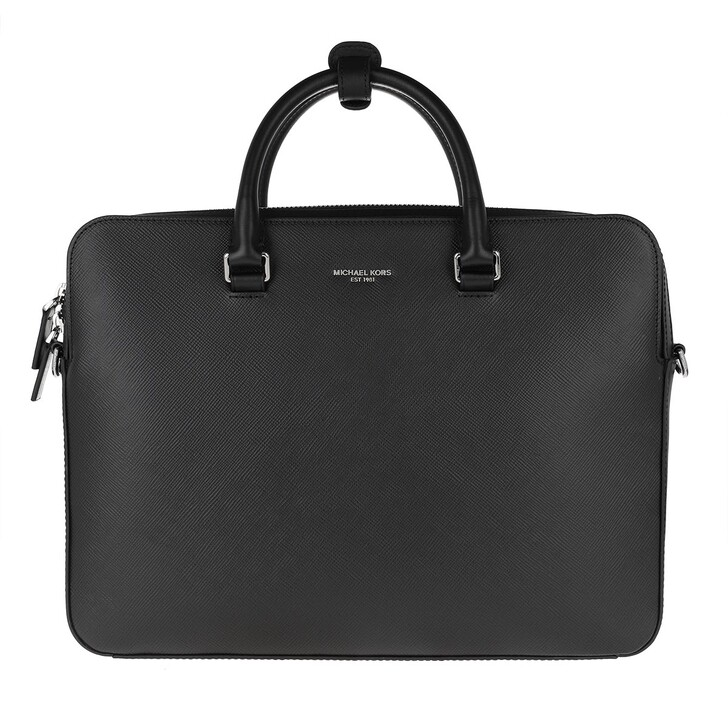 Handtasche, MICHAEL Michael Kors, Henry Men Double Pocket Briefcase Black