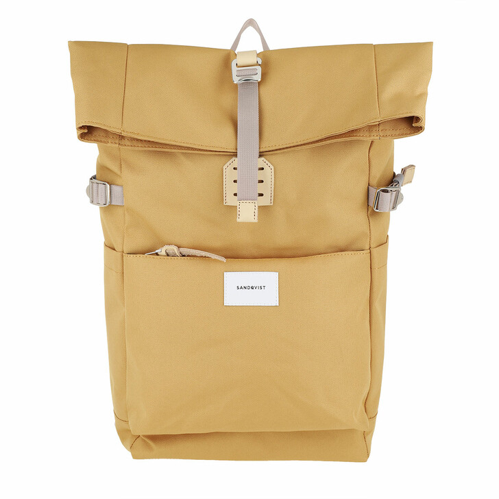 Reisetasche, Sandqvist, Ilon Backpacks Leather Yellow Natural