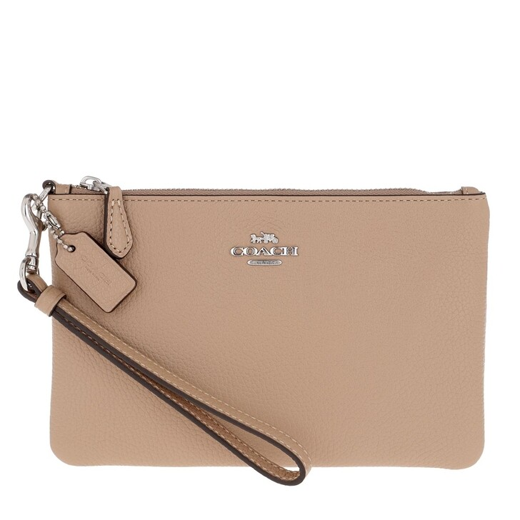 Handtasche, Coach, Small Wristlets Pouch Taupe