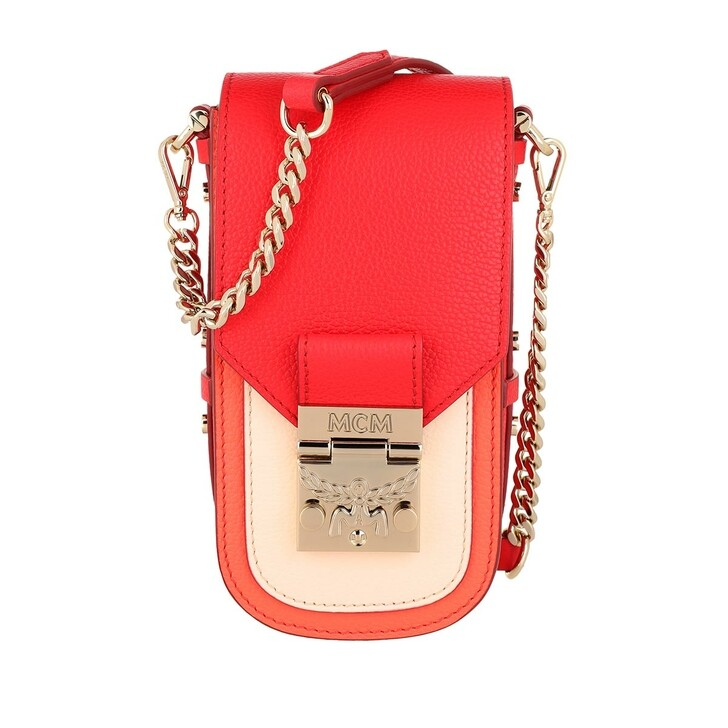 Handtasche, MCM, Patricia Park Ave Color Block Crossbody Chinese Red