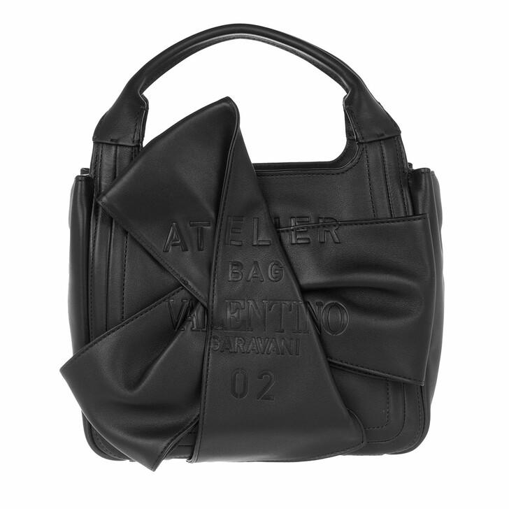 bags, Valentino Garavani, Small Atelier Tote Bag Black