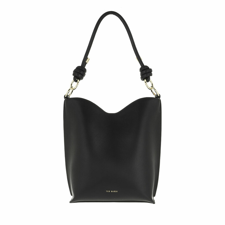 bags, Ted Baker, Daaisy Knotted Leather Shopper Black