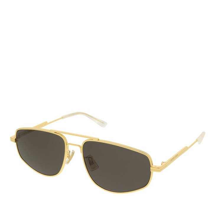 sunglasses, Bottega Veneta, BV1125S-002 59 Sunglass Man Metal Gold-Gold-Grey