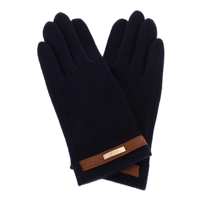 gloves, Lauren Ralph Lauren, Belted Glove Navy