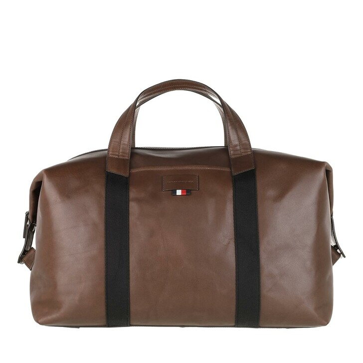 Reisetasche, Tommy Hilfiger, Casual Leather Duffle Cigar