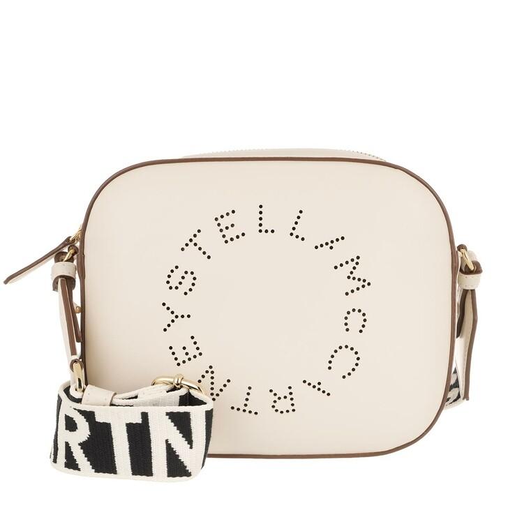 Handtasche, Stella McCartney, Mini Camera Bag Pure White