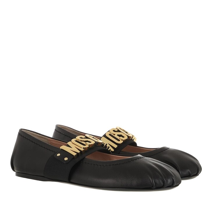 shoes, Moschino, Scarpad.Ballerina5 Nappa Ballerina Nero
