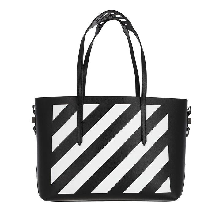 bags, Off-White, Diag Binder Shopper Black/White
