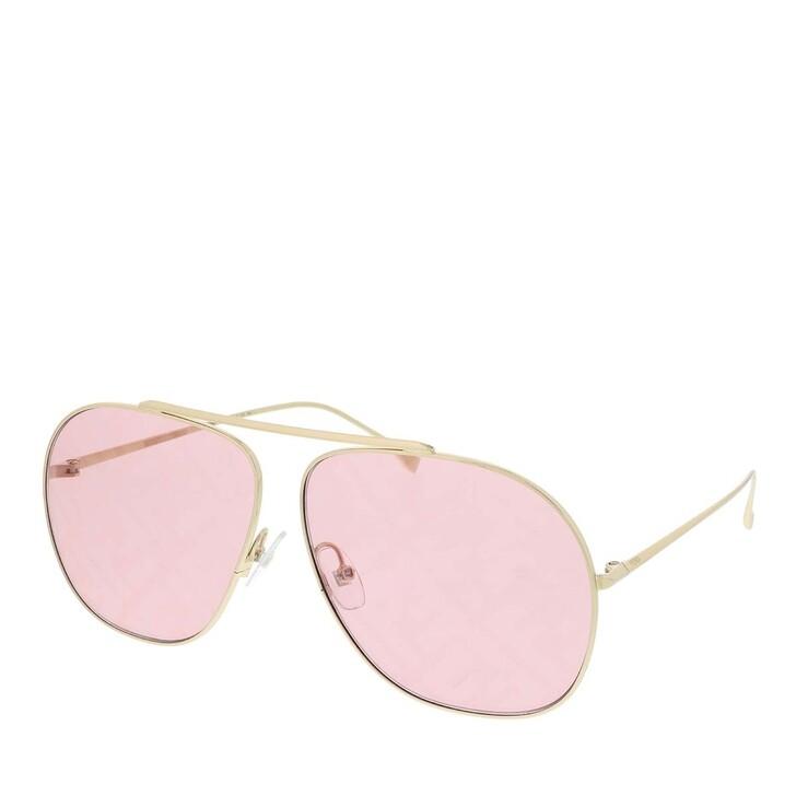 Sonnenbrille, Fendi, FF 0407/G/S Sunglasses Gold Pink