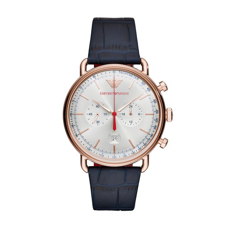 Uhr, Emporio Armani, AR11123 Gents Aviator Rosegold