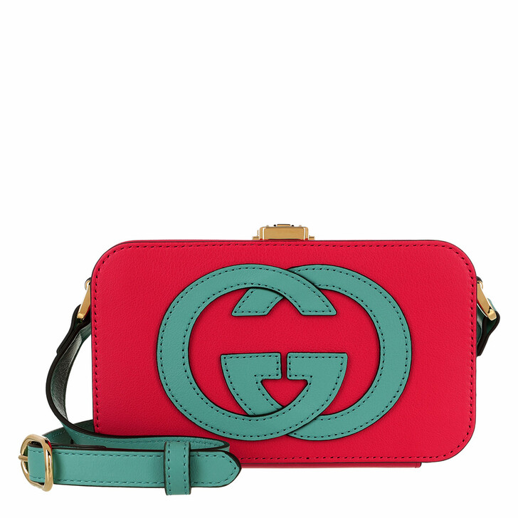 bags, Gucci, Mini GG Crossbody Bag Leather Geranium