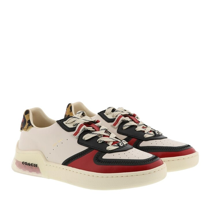 Schuh, Coach, Citysole Court Sneaker Leather Chalk/Electric Red