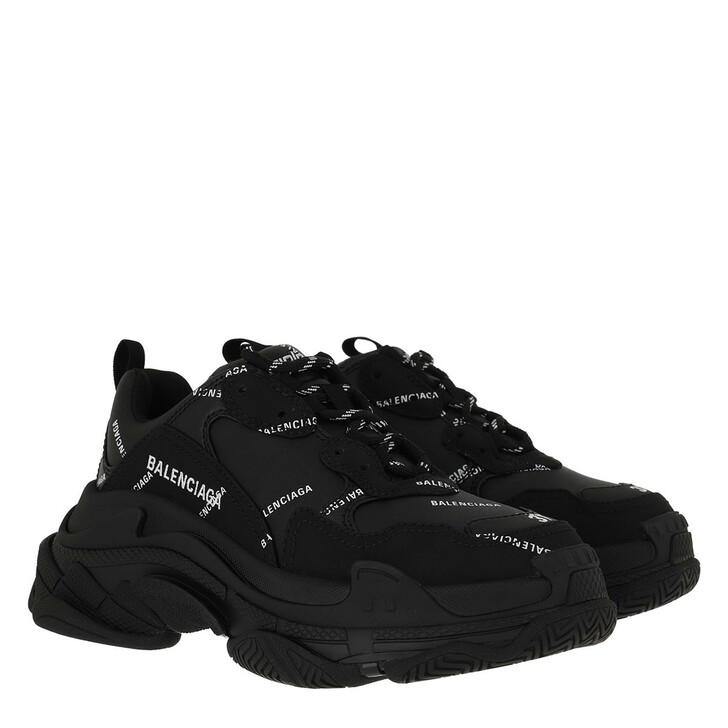 shoes, Balenciaga, Triple S Sneakers Black/White