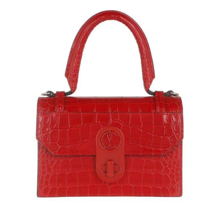 Handtasche, Christian Louboutin, Small Elisa Top Handle Bag Leather Loubi Red