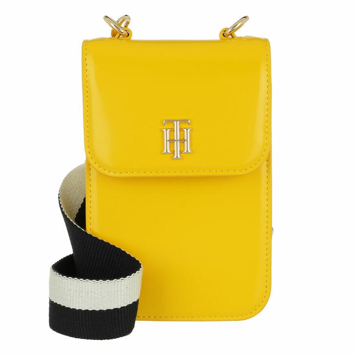 Handtasche, Tommy Hilfiger, Th Staple Mini Crossbody Bag Yellow