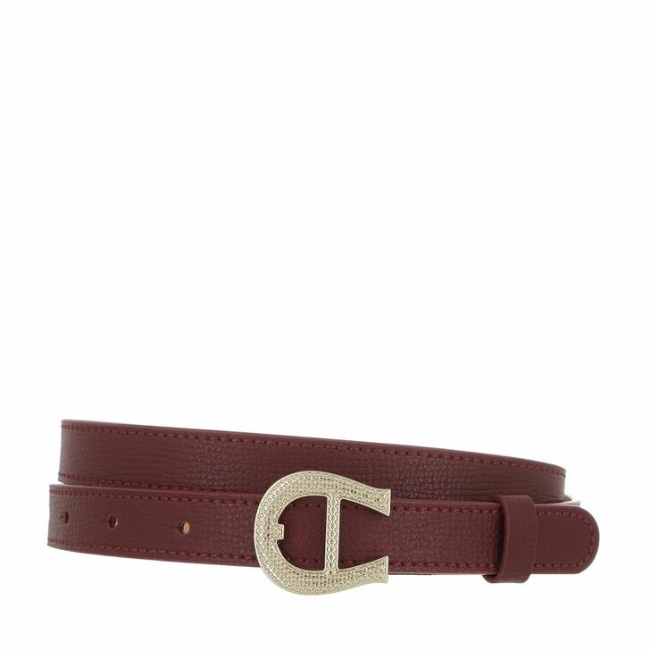 belts, AIGNER, Belt Burgundy