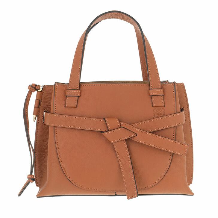 bags, Loewe, Mini Gate Top Handle Bag Calfskin Tan