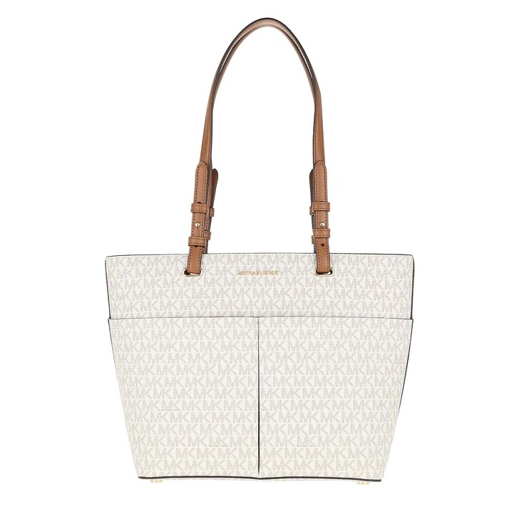 Handtasche, MICHAEL Michael Kors, Bedford Medium Pocket Tote Bag Vanilla/Acorn