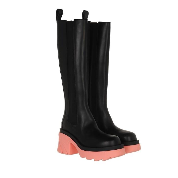 shoes, Bottega Veneta, Flash High Chelsea Boots Leather Black/Flamingo