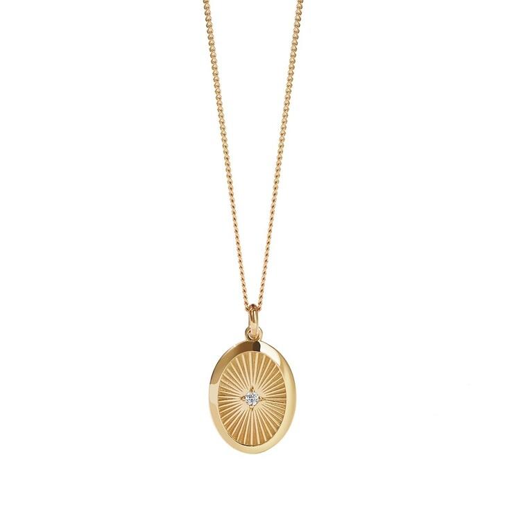 necklaces, Meadowlark, Inez Necklace Reclaimed White Diamond Yellow Gold