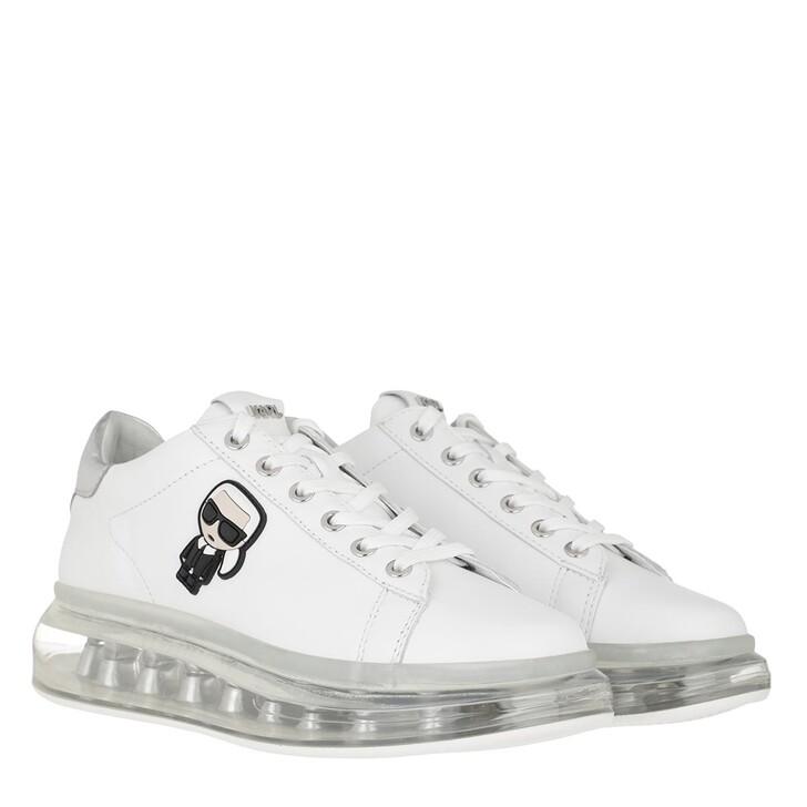 Schuh, Karl Lagerfeld, Kapri Kushion Sneaker White Leather/Silver
