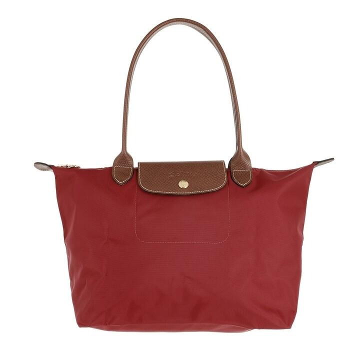 bags, Longchamp, Le Pliage Original Shoulder Bag  Red
