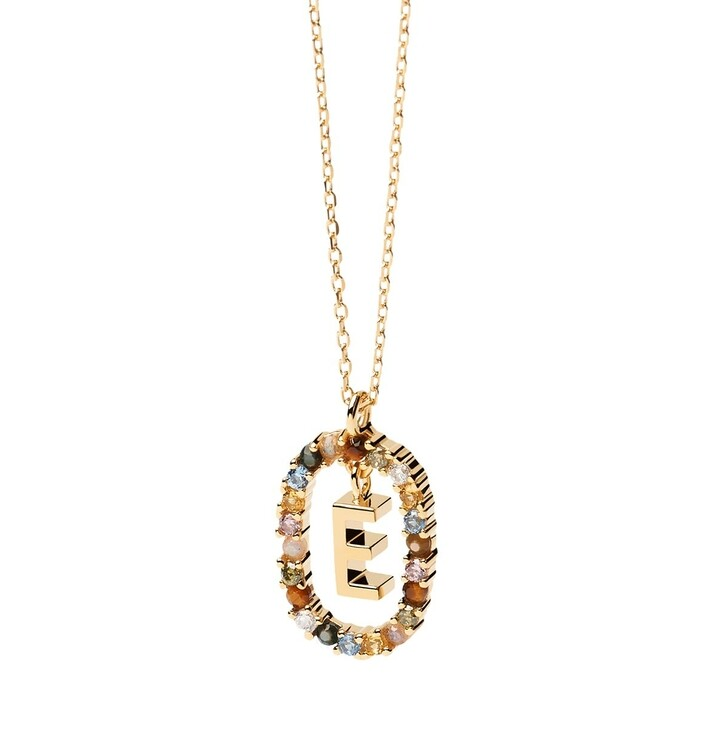 Kette, PDPAOLA, Necklace Letter E Yellow Gold
