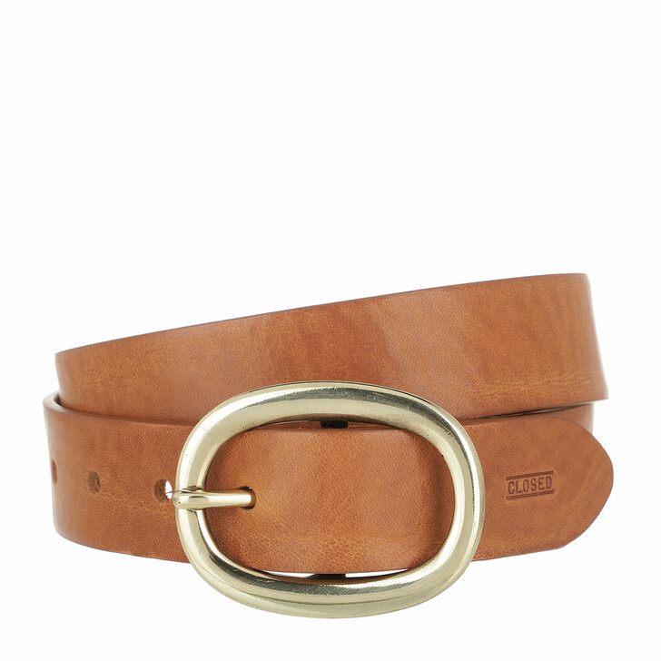Gürtel, Closed, Belt Leather Pale Walnut