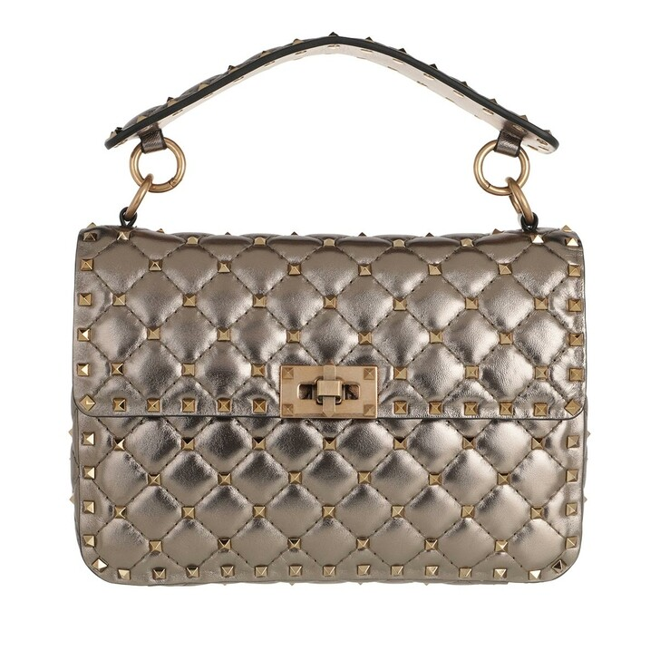 Handtasche, Valentino, Rockstud Spike Crossbody Bag Medium Sasso